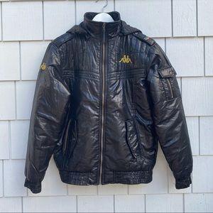 Vintage kappa bomber puffer jacket with detachabl…